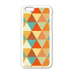 Triangles Pattern  Apple Iphone 6/6s White Enamel Case by TastefulDesigns