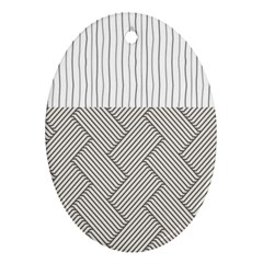 Lines And Stripes Patterns Oval Ornament (two Sides) by TastefulDesigns
