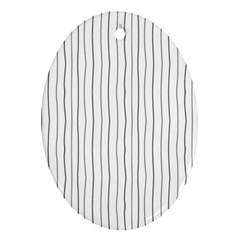 Hand Drawn Lines Pattern Ornament (oval) by TastefulDesigns