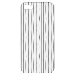 Hand Drawn Lines Pattern Apple Iphone 5 Hardshell Case by TastefulDesigns