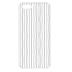 Hand Drawn Lines Pattern Apple Iphone 5 Seamless Case (white) by TastefulDesigns