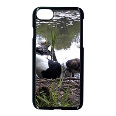 Treeing Walker Coonhound In Water Apple iPhone 7 Seamless Case (Black) by TailWags