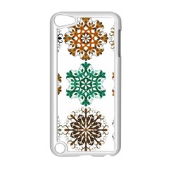 A Set Of 9 Nine Snowflakes On White Apple Ipod Touch 5 Case (white) by Amaryn4rt