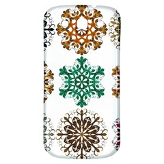 A Set Of 9 Nine Snowflakes On White Samsung Galaxy S3 S Iii Classic Hardshell Back Case by Amaryn4rt