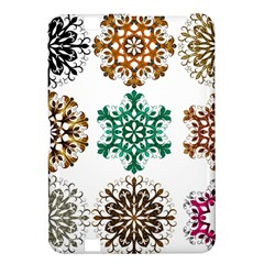 A Set Of 9 Nine Snowflakes On White Kindle Fire Hd 8 9  by Amaryn4rt