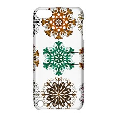 A Set Of 9 Nine Snowflakes On White Apple Ipod Touch 5 Hardshell Case With Stand by Amaryn4rt