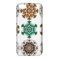 A Set Of 9 Nine Snowflakes On White Apple Iphone 5c Hardshell Case by Amaryn4rt