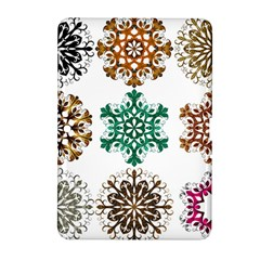 A Set Of 9 Nine Snowflakes On White Samsung Galaxy Tab 2 (10 1 ) P5100 Hardshell Case  by Amaryn4rt