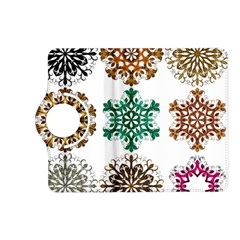 A Set Of 9 Nine Snowflakes On White Kindle Fire Hd (2013) Flip 360 Case by Amaryn4rt