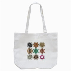 A Set Of 9 Nine Snowflakes On White Tote Bag (white) by Amaryn4rt