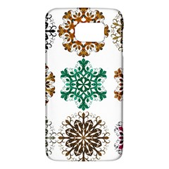 A Set Of 9 Nine Snowflakes On White Galaxy S6 by Amaryn4rt