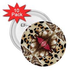 Animal Tissue And Flowers 2 25  Buttons (10 Pack)  by Amaryn4rt