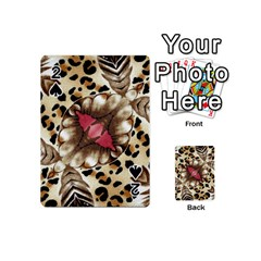 Animal Tissue And Flowers Playing Cards 54 (mini)  by Amaryn4rt