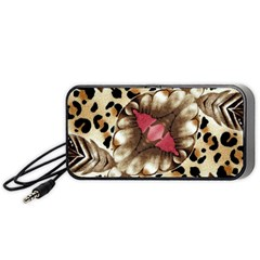 Animal Tissue And Flowers Portable Speaker (black) by Amaryn4rt