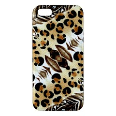 Background Fabric Animal Motifs And Flowers Iphone 5s/ Se Premium Hardshell Case by Amaryn4rt