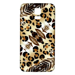 Background Fabric Animal Motifs And Flowers Samsung Galaxy S5 Back Case (white) by Amaryn4rt