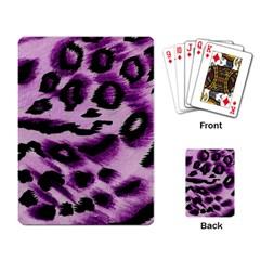 Background Fabric Animal Motifs Lilac Playing Card by Amaryn4rt
