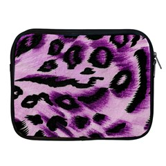 Background Fabric Animal Motifs Lilac Apple Ipad 2/3/4 Zipper Cases by Amaryn4rt