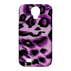 Background Fabric Animal Motifs Lilac Samsung Galaxy S4 Classic Hardshell Case (pc+silicone) by Amaryn4rt