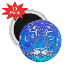 Background Fabric With Tiger Head Pattern 2 25  Magnets (10 Pack)  by Amaryn4rt
