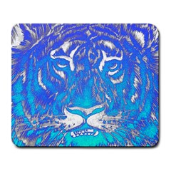 Background Fabric With Tiger Head Pattern Large Mousepads by Amaryn4rt