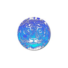 Background Fabric With Tiger Head Pattern Golf Ball Marker by Amaryn4rt