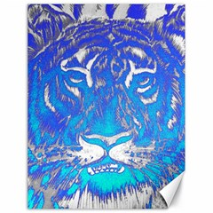 Background Fabric With Tiger Head Pattern Canvas 18  X 24   by Amaryn4rt