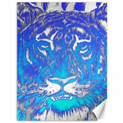 Background Fabric With Tiger Head Pattern Canvas 36  X 48   by Amaryn4rt