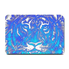 Background Fabric With Tiger Head Pattern Small Doormat  by Amaryn4rt