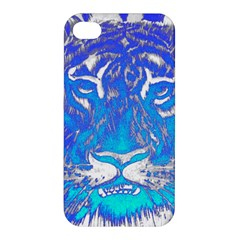 Background Fabric With Tiger Head Pattern Apple Iphone 4/4s Hardshell Case by Amaryn4rt