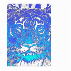 Background Fabric With Tiger Head Pattern Large Garden Flag (two Sides) by Amaryn4rt