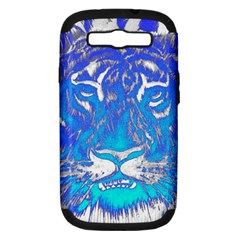 Background Fabric With Tiger Head Pattern Samsung Galaxy S Iii Hardshell Case (pc+silicone) by Amaryn4rt