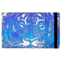Background Fabric With Tiger Head Pattern Apple Ipad 3/4 Flip Case by Amaryn4rt