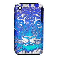 Background Fabric With Tiger Head Pattern Iphone 3s/3gs by Amaryn4rt