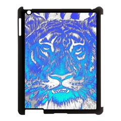 Background Fabric With Tiger Head Pattern Apple Ipad 3/4 Case (black) by Amaryn4rt