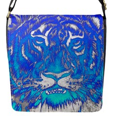 Background Fabric With Tiger Head Pattern Flap Messenger Bag (s) by Amaryn4rt