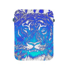 Background Fabric With Tiger Head Pattern Apple Ipad 2/3/4 Protective Soft Cases by Amaryn4rt