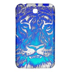 Background Fabric With Tiger Head Pattern Samsung Galaxy Tab 3 (7 ) P3200 Hardshell Case  by Amaryn4rt