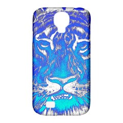 Background Fabric With Tiger Head Pattern Samsung Galaxy S4 Classic Hardshell Case (pc+silicone) by Amaryn4rt