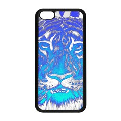 Background Fabric With Tiger Head Pattern Apple Iphone 5c Seamless Case (black) by Amaryn4rt