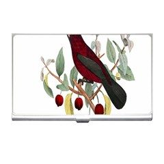 Bird On Branch Illustration Business Card Holders by Amaryn4rt