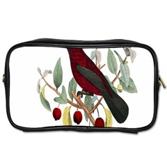 Bird On Branch Illustration Toiletries Bags 2 Side by Amaryn4rt