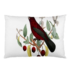 Bird On Branch Illustration Pillow Case (two Sides) by Amaryn4rt