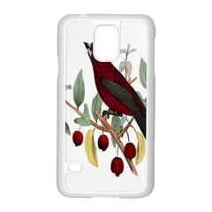 Bird On Branch Illustration Samsung Galaxy S5 Case (white) by Amaryn4rt