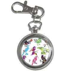 Birds Colorful Floral Funky Key Chain Watches by Amaryn4rt