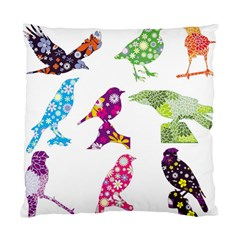 Birds Colorful Floral Funky Standard Cushion Case (two Sides) by Amaryn4rt