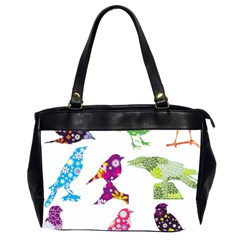Birds Colorful Floral Funky Office Handbags (2 Sides)  by Amaryn4rt