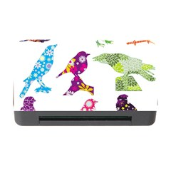 Birds Colorful Floral Funky Memory Card Reader With Cf by Amaryn4rt