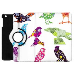 Birds Colorful Floral Funky Apple Ipad Mini Flip 360 Case by Amaryn4rt