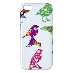Birds Colorful Floral Funky Iphone 5s/ Se Premium Hardshell Case by Amaryn4rt